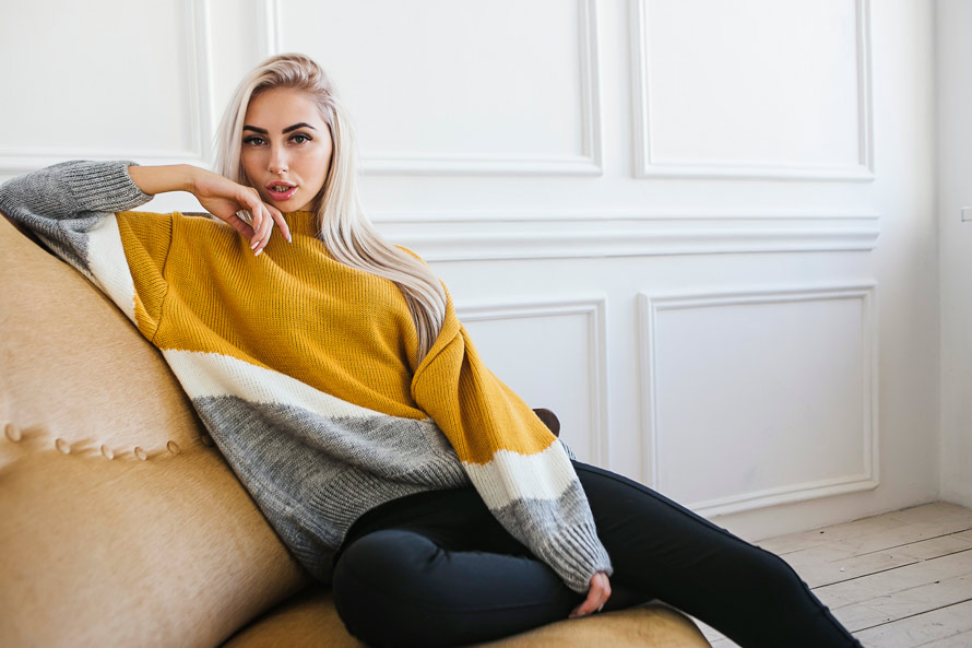 One size - one love. Как носить большие вязаные свитера в этом сезоне!