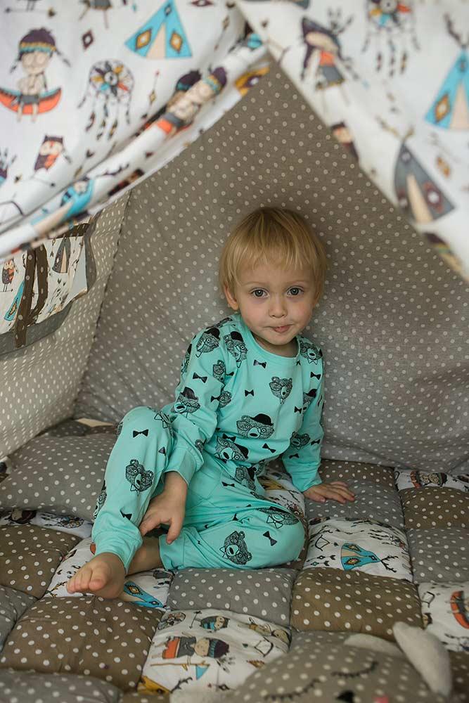 Мятная детская пижама для мальчика