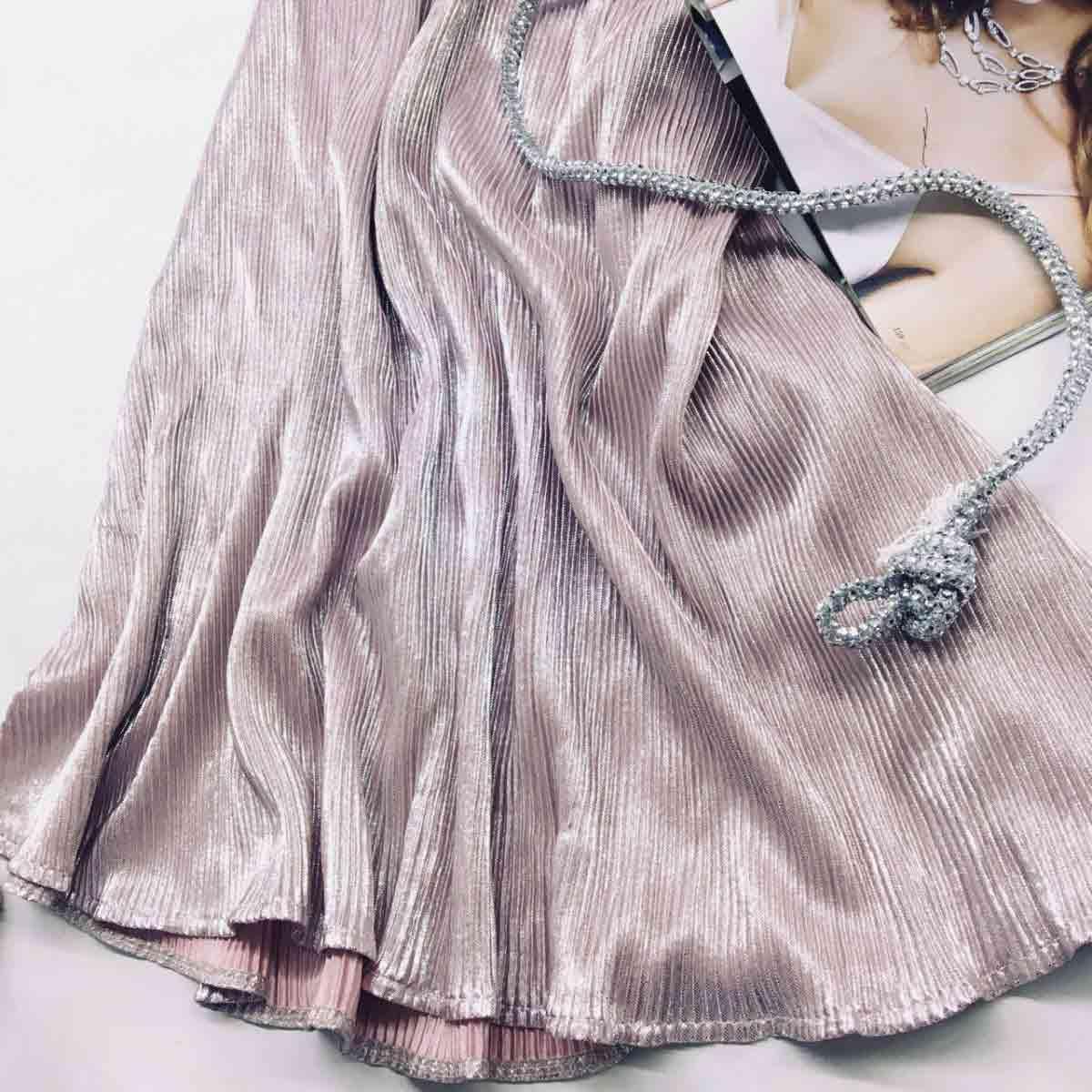 Юбка плиссе цвета пудра от производителя Аржен