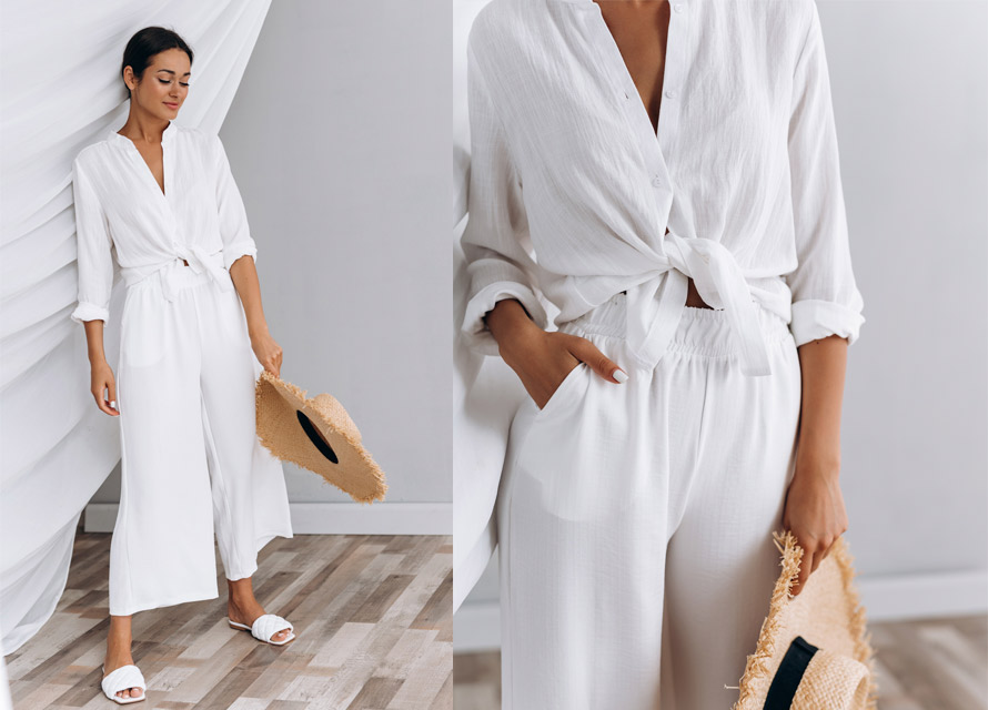 Как одеваться летом в офис - белый total look фото
