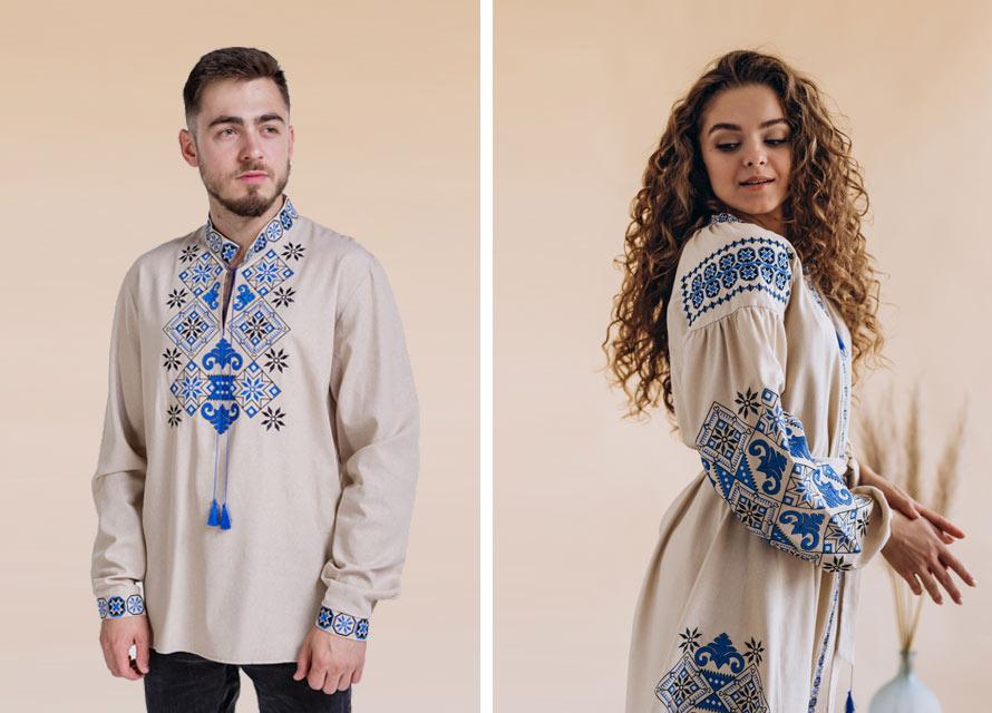 Парный образ с украинской вышиванкой - бренд Arjen