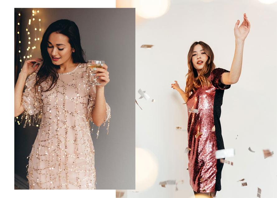 Новогодние платья с пайетками в Украине. Аржен