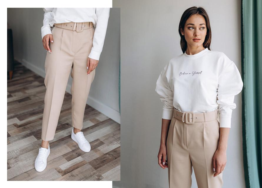 Как носить женские брюки с кроссовками - пример от arjen