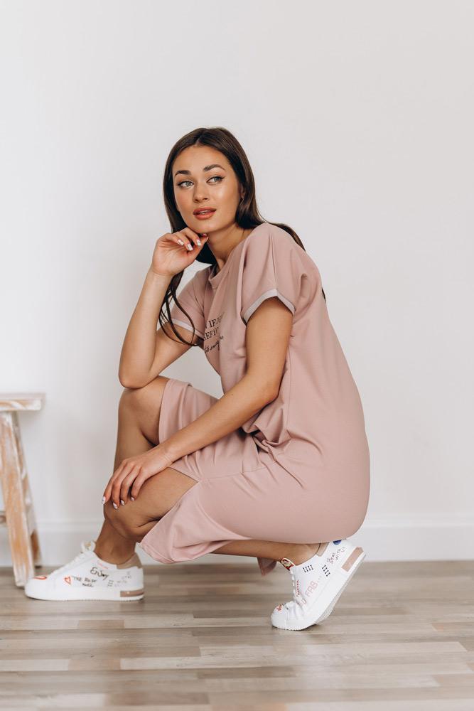 Спортивное платье трикотжаное от Аржен под кроссовки - как носить