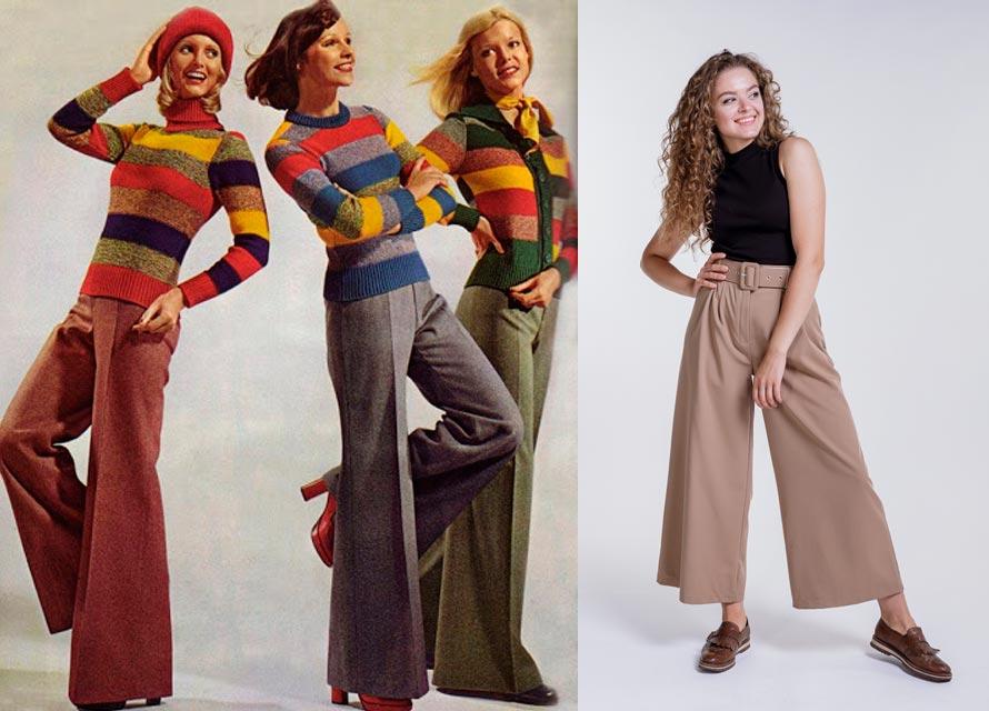 Модные женские брюки 80-х годов и современные - фото