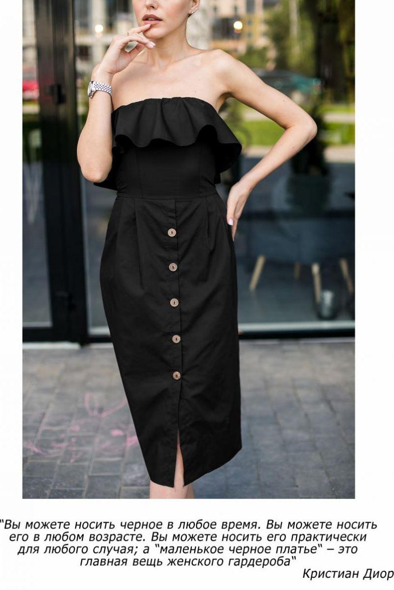 стильное черное платье фото от производителя Аржен
