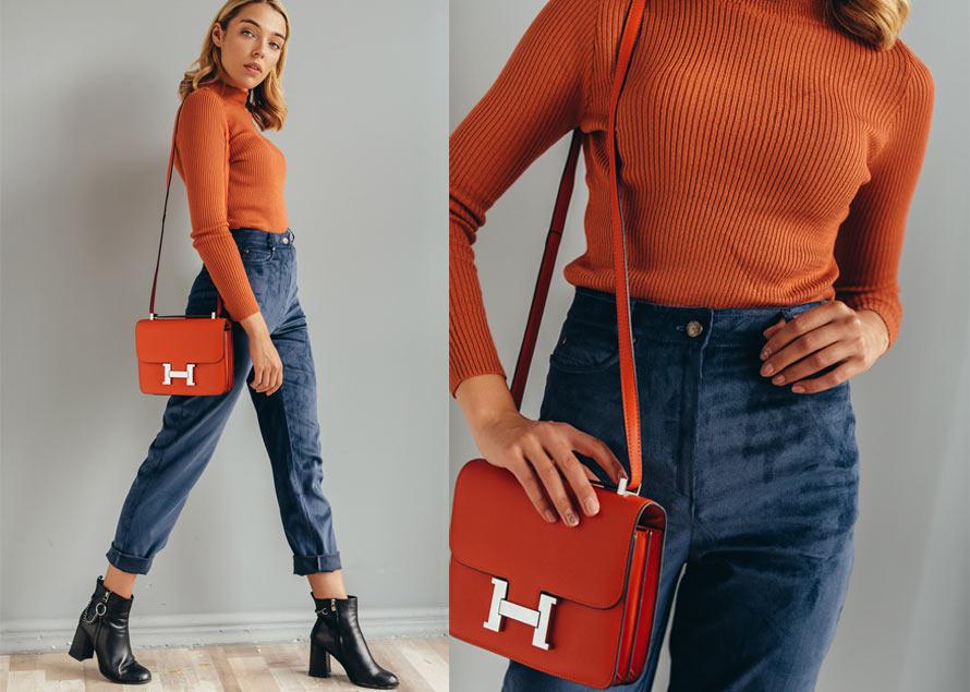 Модный образ с вязаной водолазкой и вельветовыми брюками. Интернет-магазин Аржен