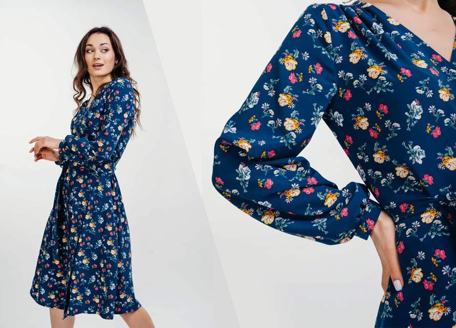 Женское платье с цветочным принтом - фото Аржен