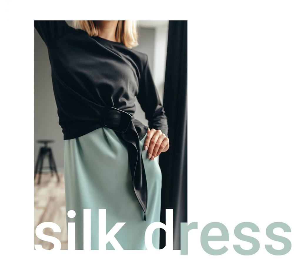 Шелковое платье в бельевом стиле. Бренд Аржен, Украина