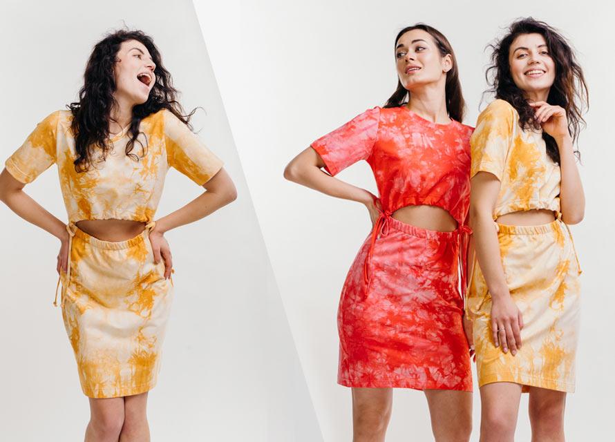 Летнее платье с принтом тай-дай - тренд 2021 фото