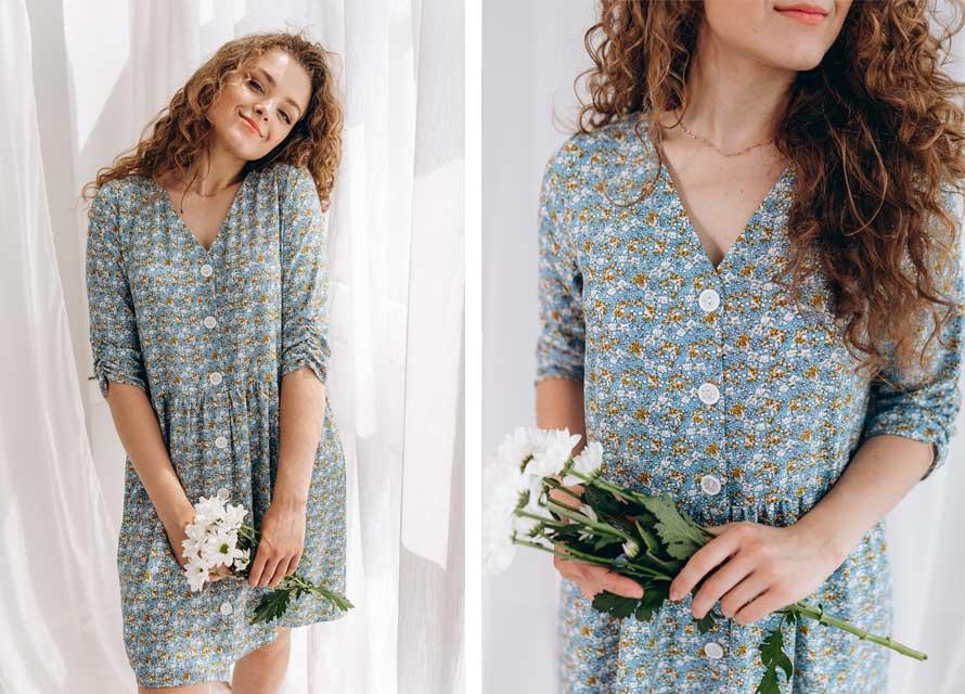 Модное летнее платье в цветочек - бренд Аржен