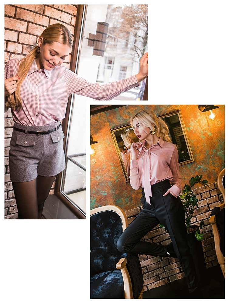 Модный наряд с рубашкой и шортами, образ с рубашкой и брюками от Аржен