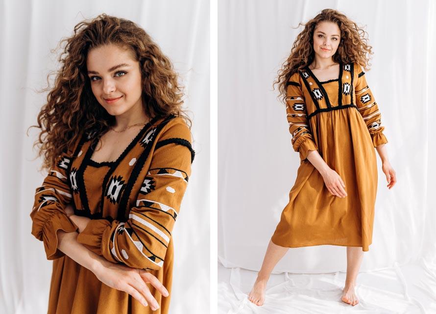Модное платье-вышиванка от производителя Аржен - тренды
