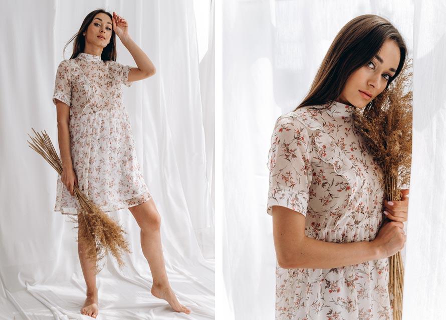 Модное шифоновое платье на лето 2020 - фото