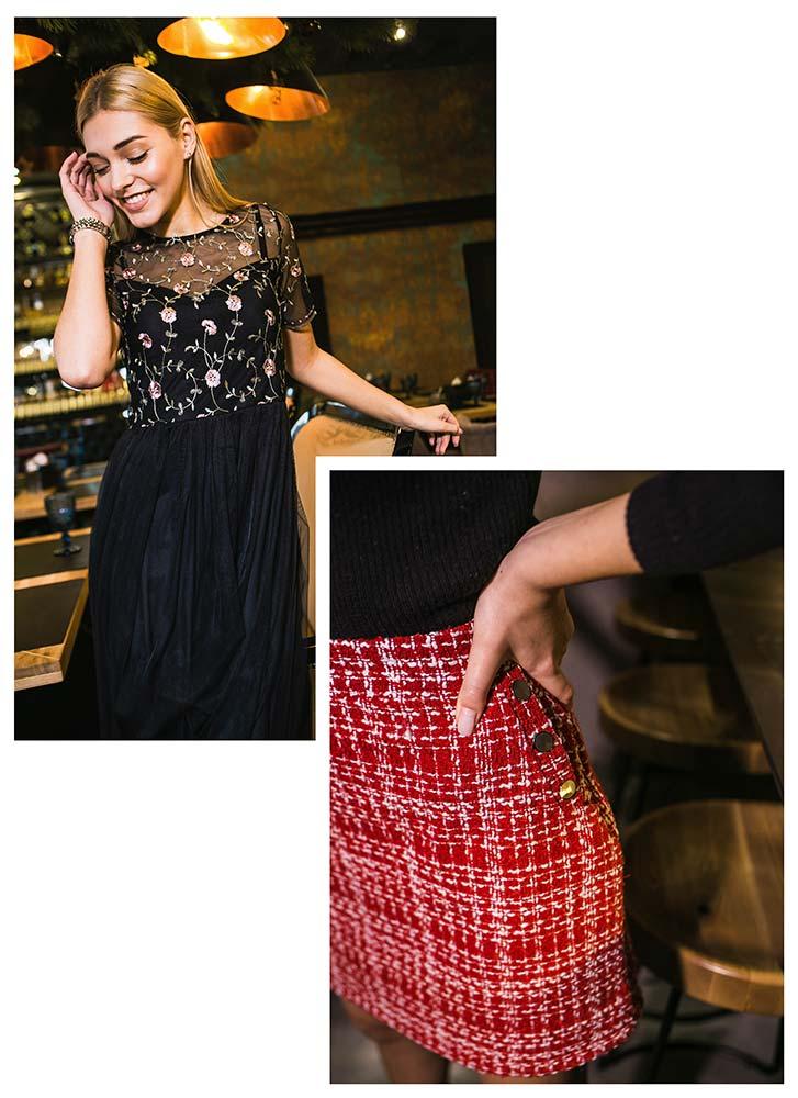 Вечернее платье и красная юбка от производителя Аржен