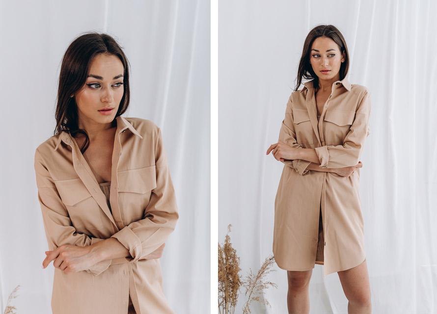 Женское платье-рубашка - мода 2020 Аржен
