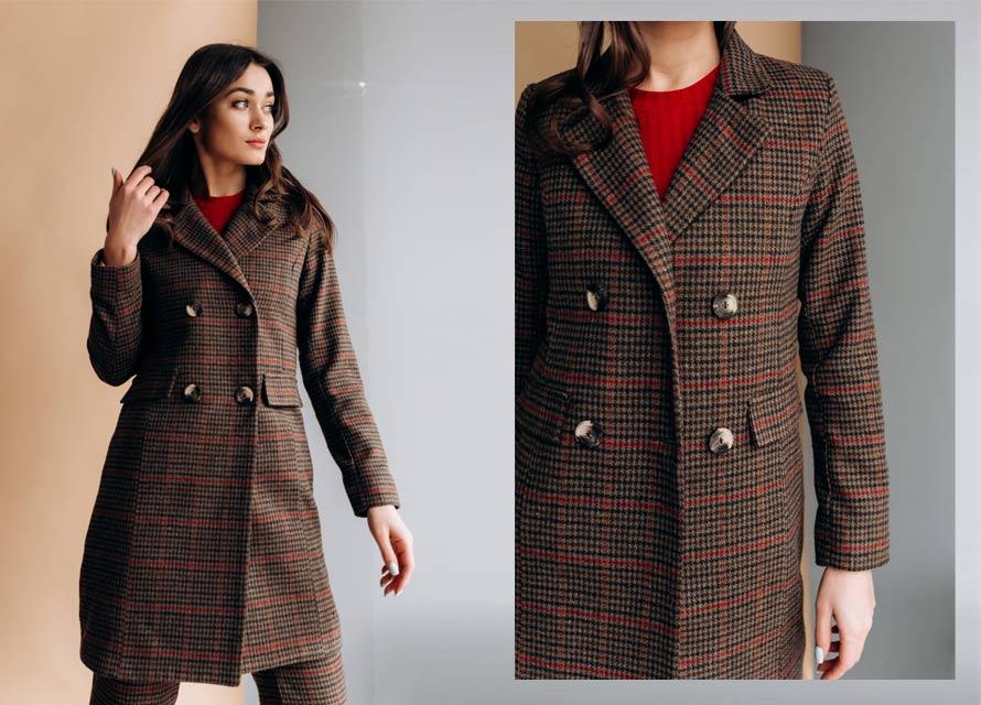 Брюки и пальто в клетку - модный женский костюм от Аржен