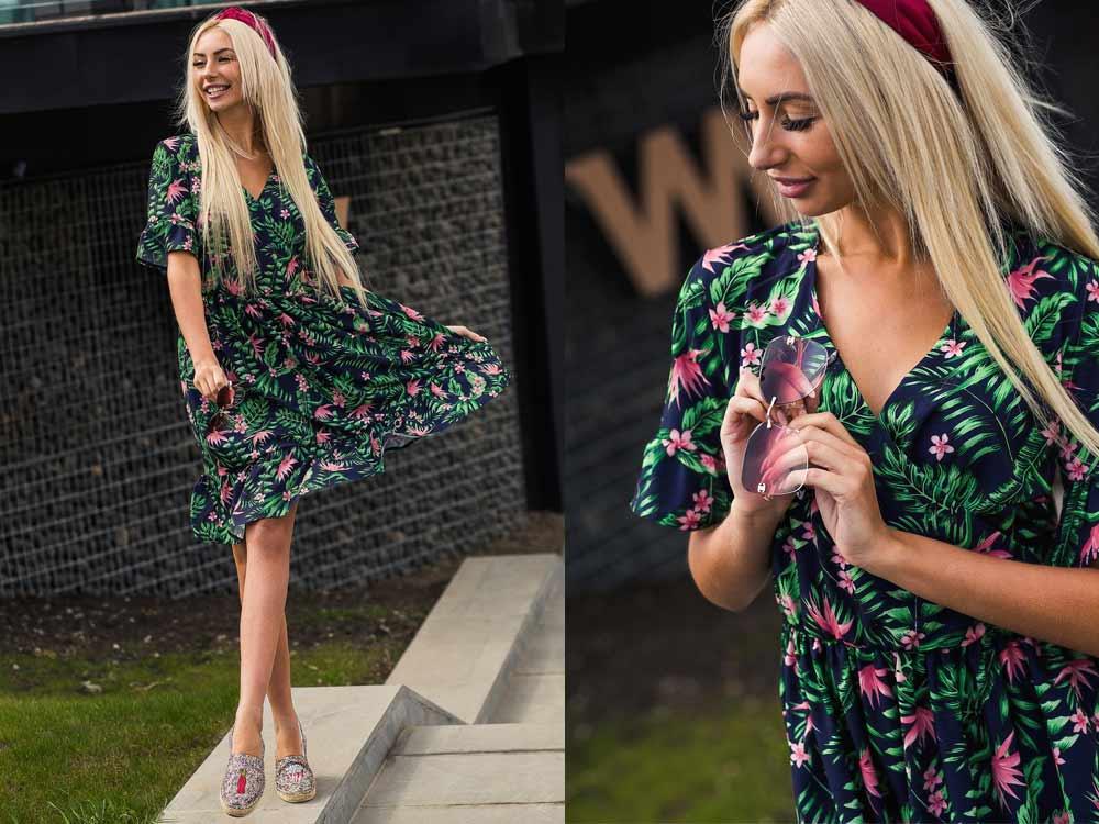 Платье в цветочек фото Аржен