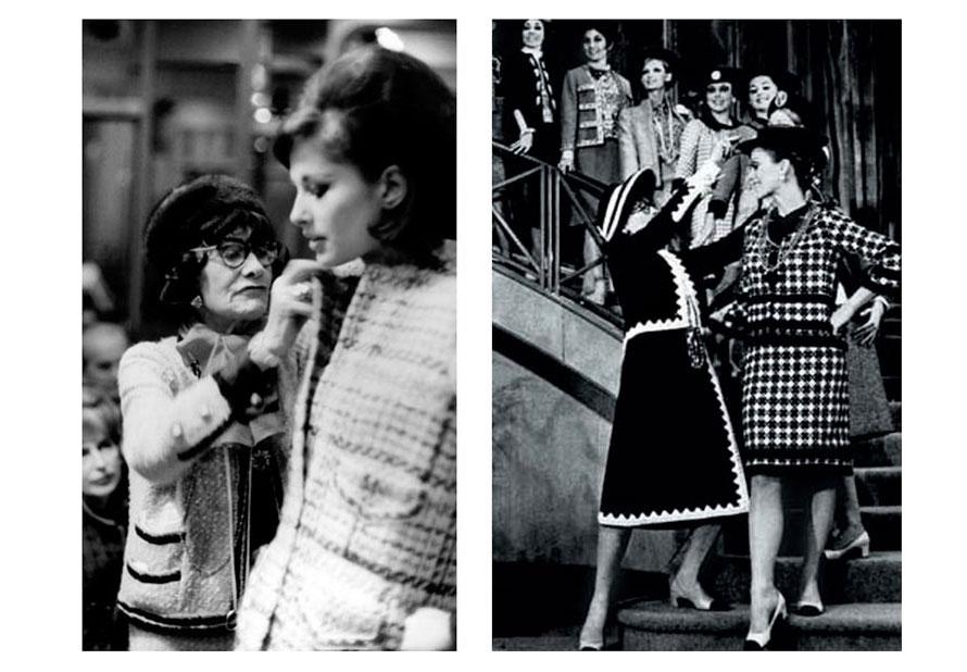 Коллекция костюмов из букле от Коко Шанель