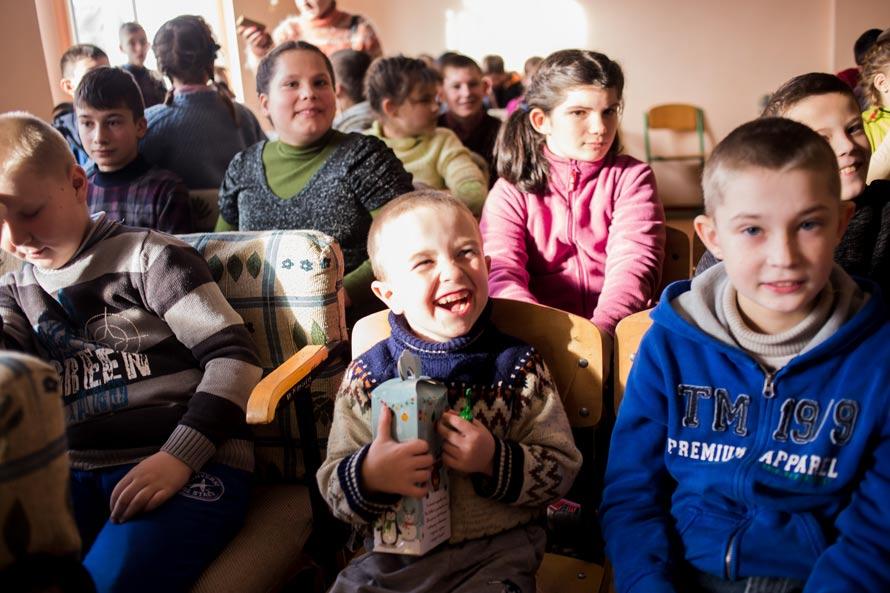 Воспитанники детдома с. Антонины, Хмельницкая область