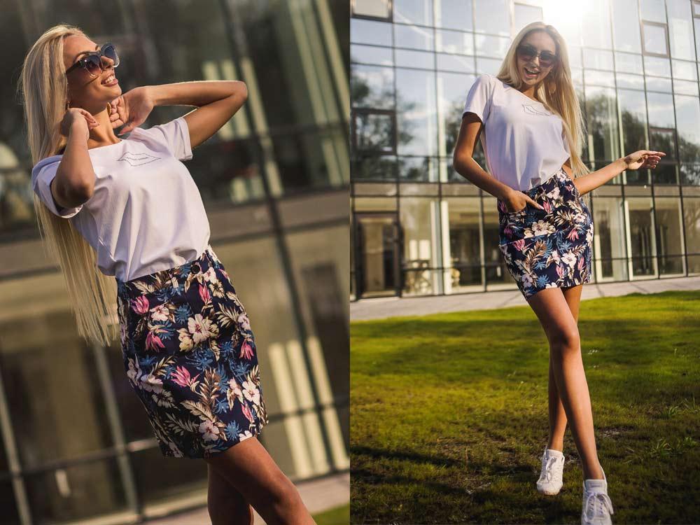Как носить одежду в цветочек фото