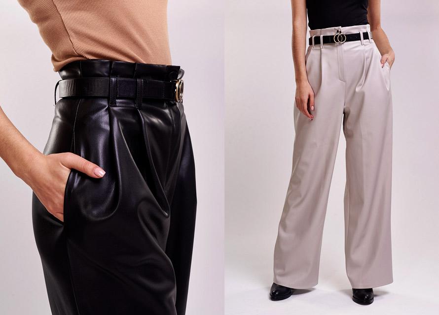 Образ со свободными женскими брюками Аржен