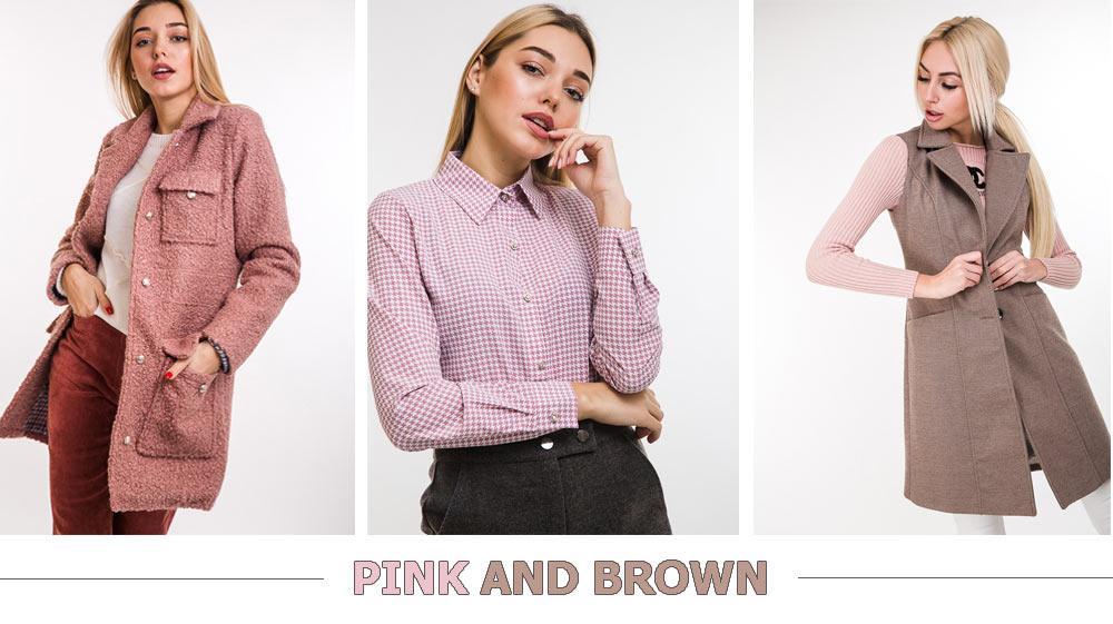 Как сочетается розовый и коричневый цвет в одежде от Arjen