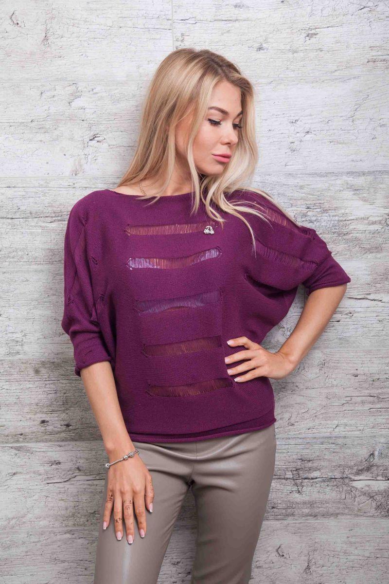 Женская вязаная кофта летучая мышь - бренд Arjen