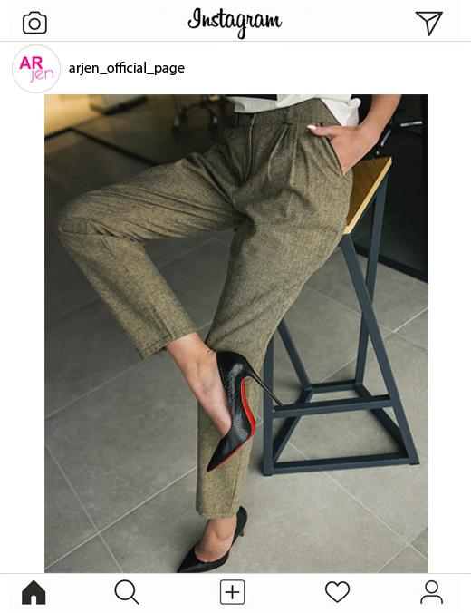 Широкие женские брюки модное фото от Arjen