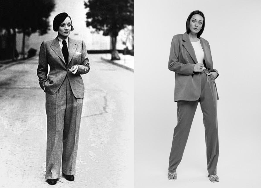 Женский брючный костюм 1930-х годов и сейчас - мода