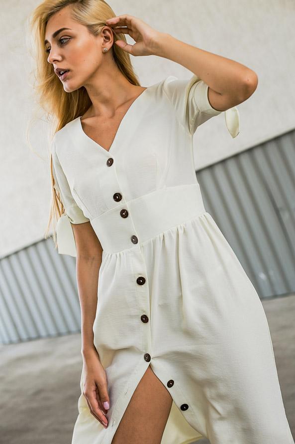 Красивое летнее платье на пуговицах - женская одежда Аржен