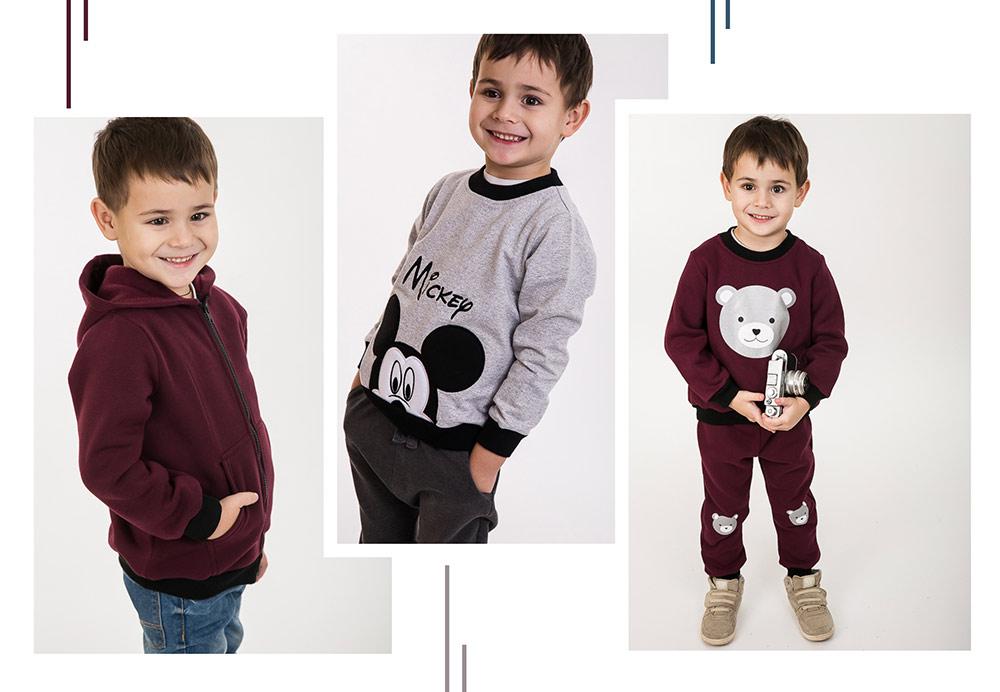 Теплая трикотажная одежда для мальчиков от производителя Аржен