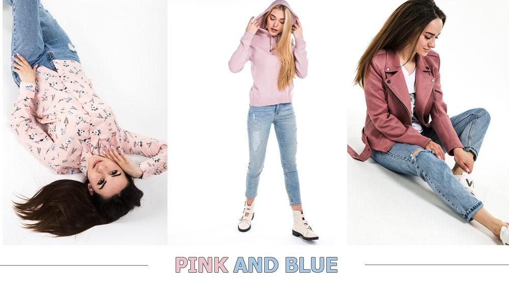 Как сочетать розовый и голубой цвет. Фото одежды Arjen