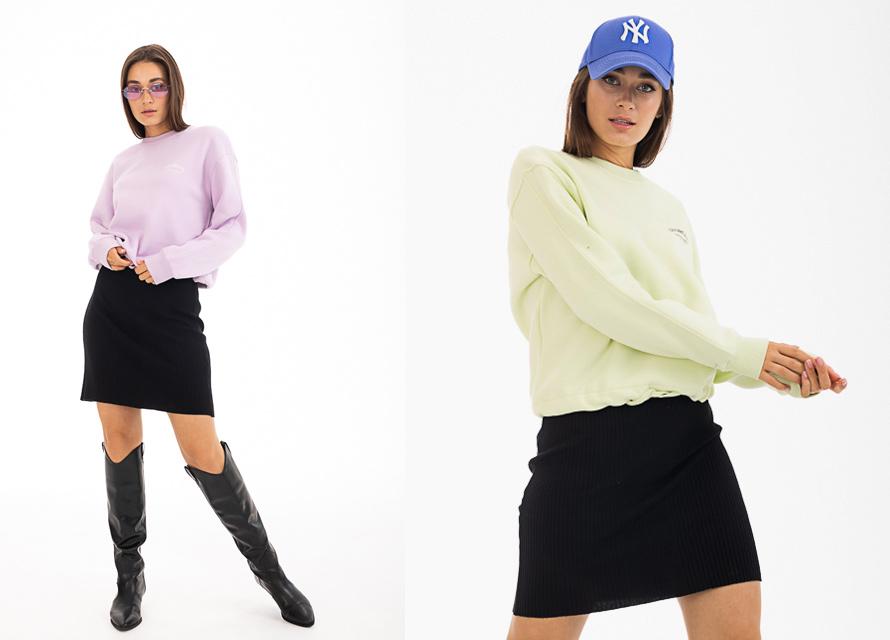 Модные образы с мини-юбкой Аржен. Тренды осень 2021.