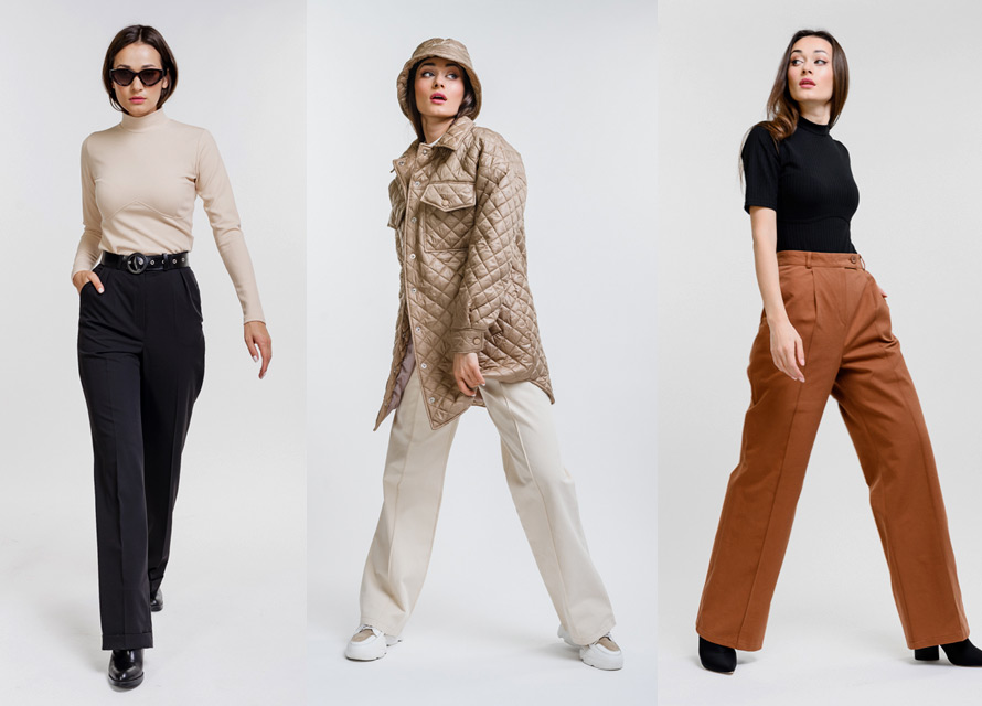 С чем носить широкие штаны осенью и весной - пример Аржен