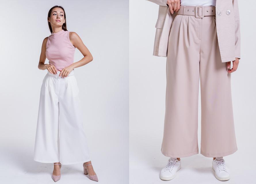 С чем носить укороченные женские брюки - фото