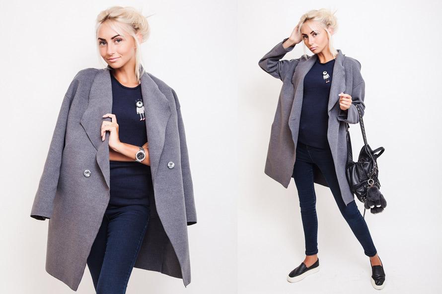 Пальто Over size от производителя женской одежды Аржен