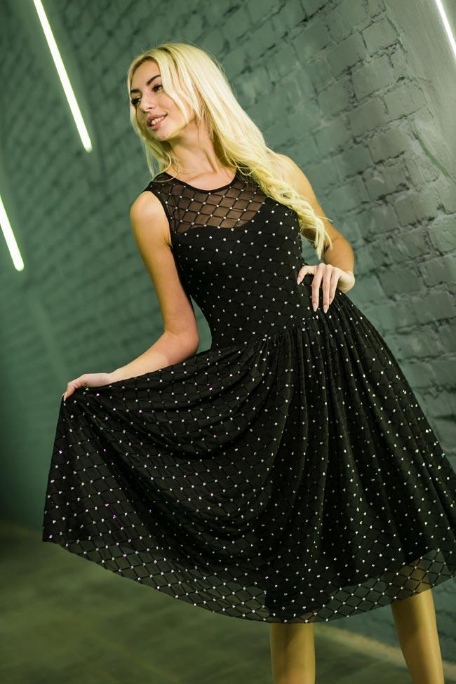 Красивое коктейльное платье черного цвета в интернет магазине Аржен
