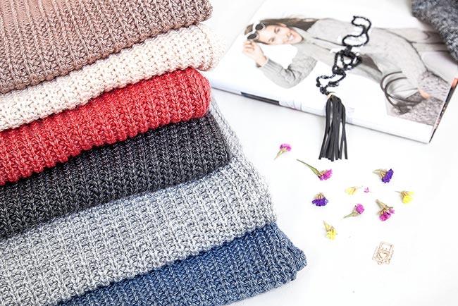 Вязаные шарфы - фото разных расцветок
