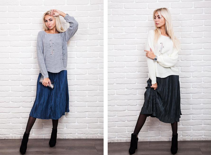 Как комбинировать юбку плиссе с ботильонами фото Аржен