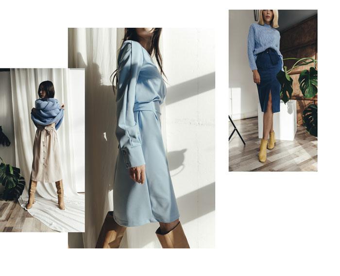 С чем сочетать одежду голубого цвета - примеры от Аржен