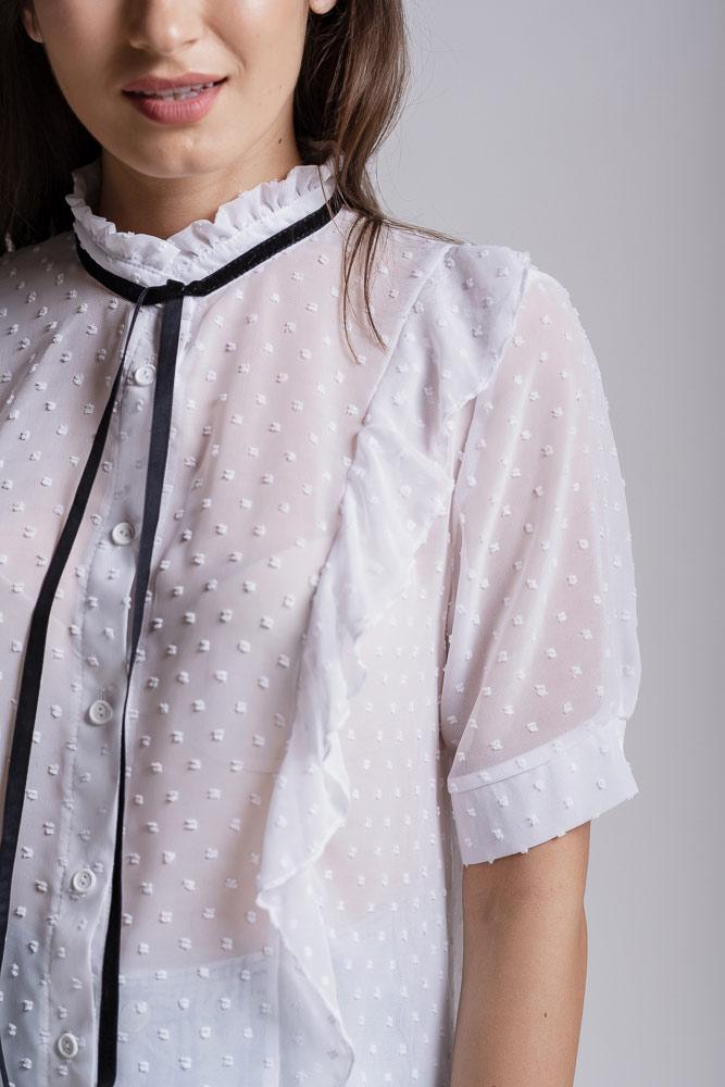 модные женские блузки с коротким рукавом