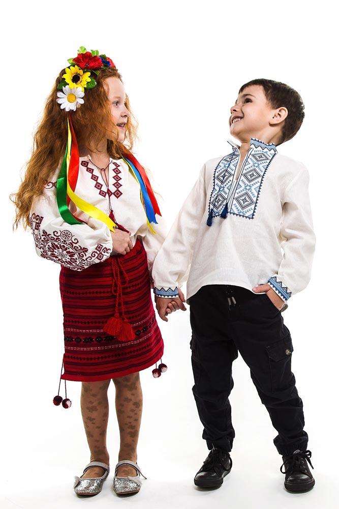 Детские вышиванки для мальчиков и девочек