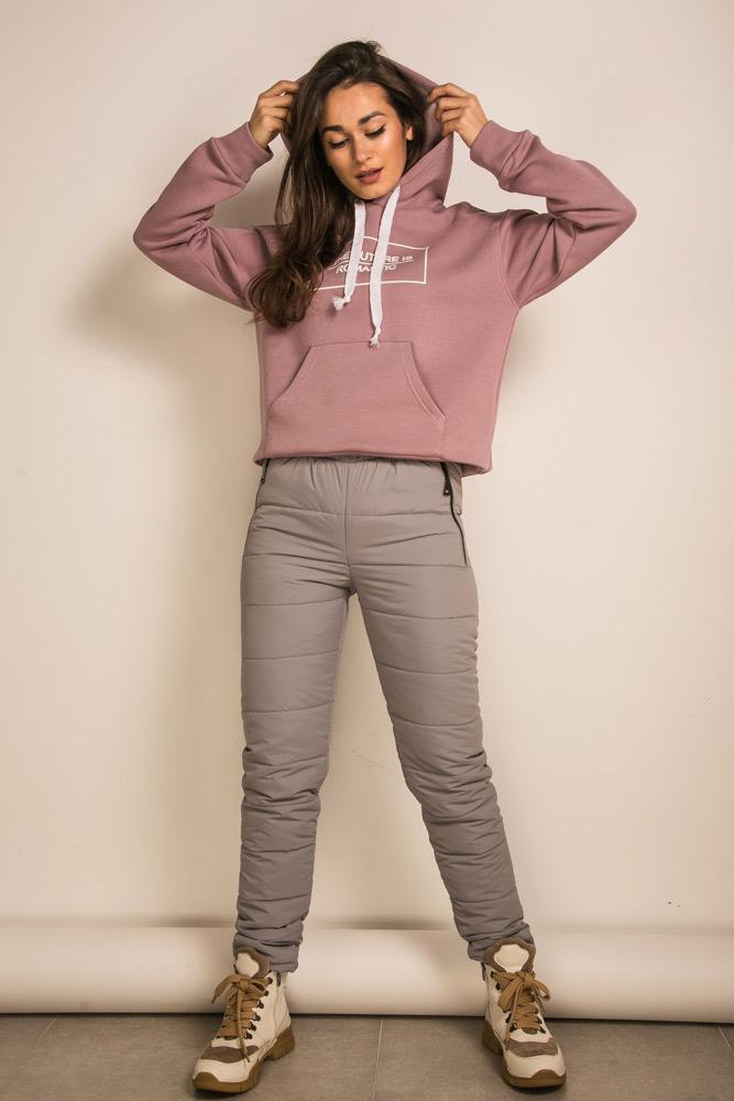 Зимние спортивные штаны с начесом на флисе