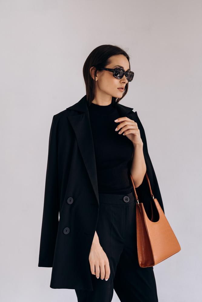 Купить черный женский жакет - фото