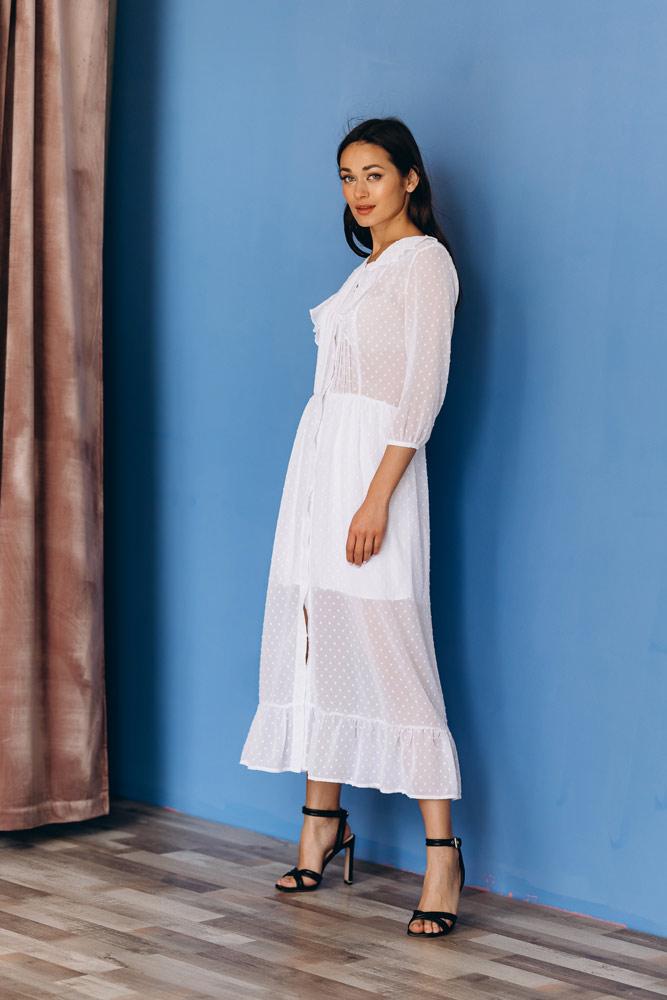 белое шифоновое платье купить